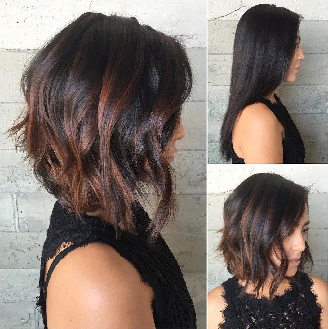 Widely Used Black And Brown Choppy Bob Hairstyles Throughout 60 Chocolate Brown Hair Color Ideas For Brunettes (Gallery 5 of 20)