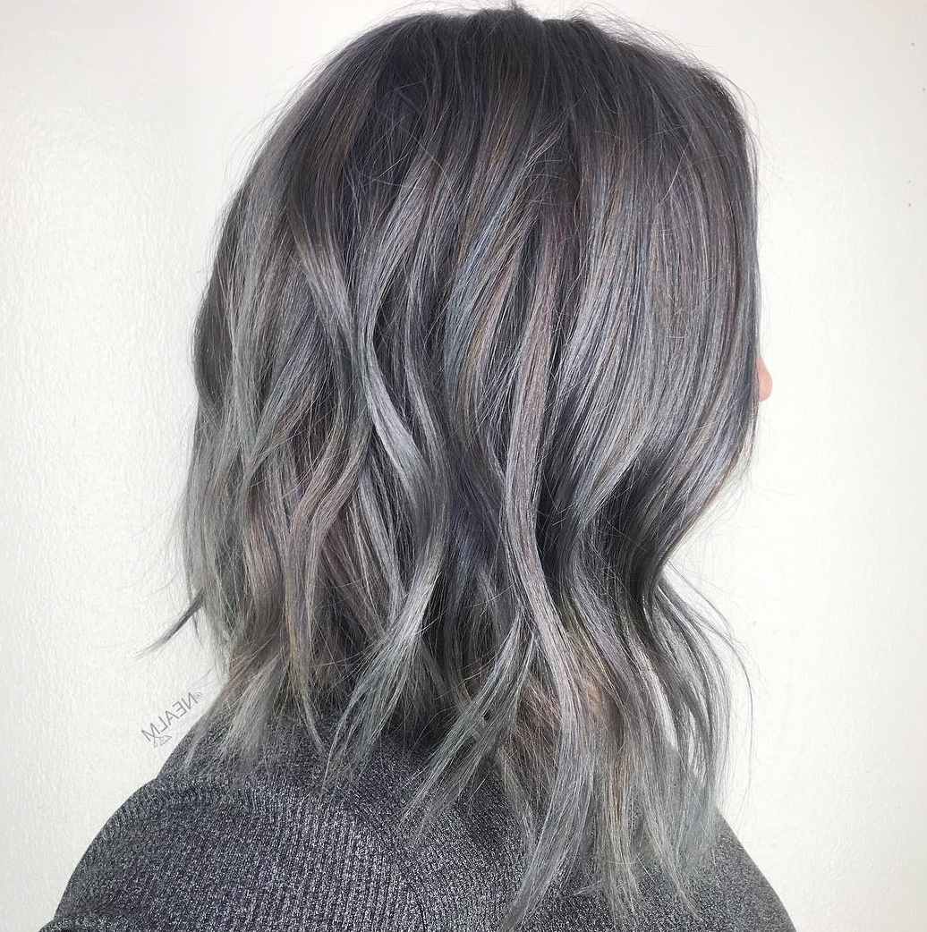 Widely Used Gray Razored Shag Haircuts With Black Roots Throughout How To Pull Off Medium Length Haircuts And Hairstyles In 2019 (Gallery 20 of 20)