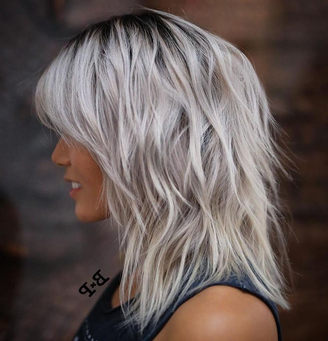 Widely Used Silver Shag Haircuts With Feathered Layers For Pin On Hair Ideas (View 3 of 20)