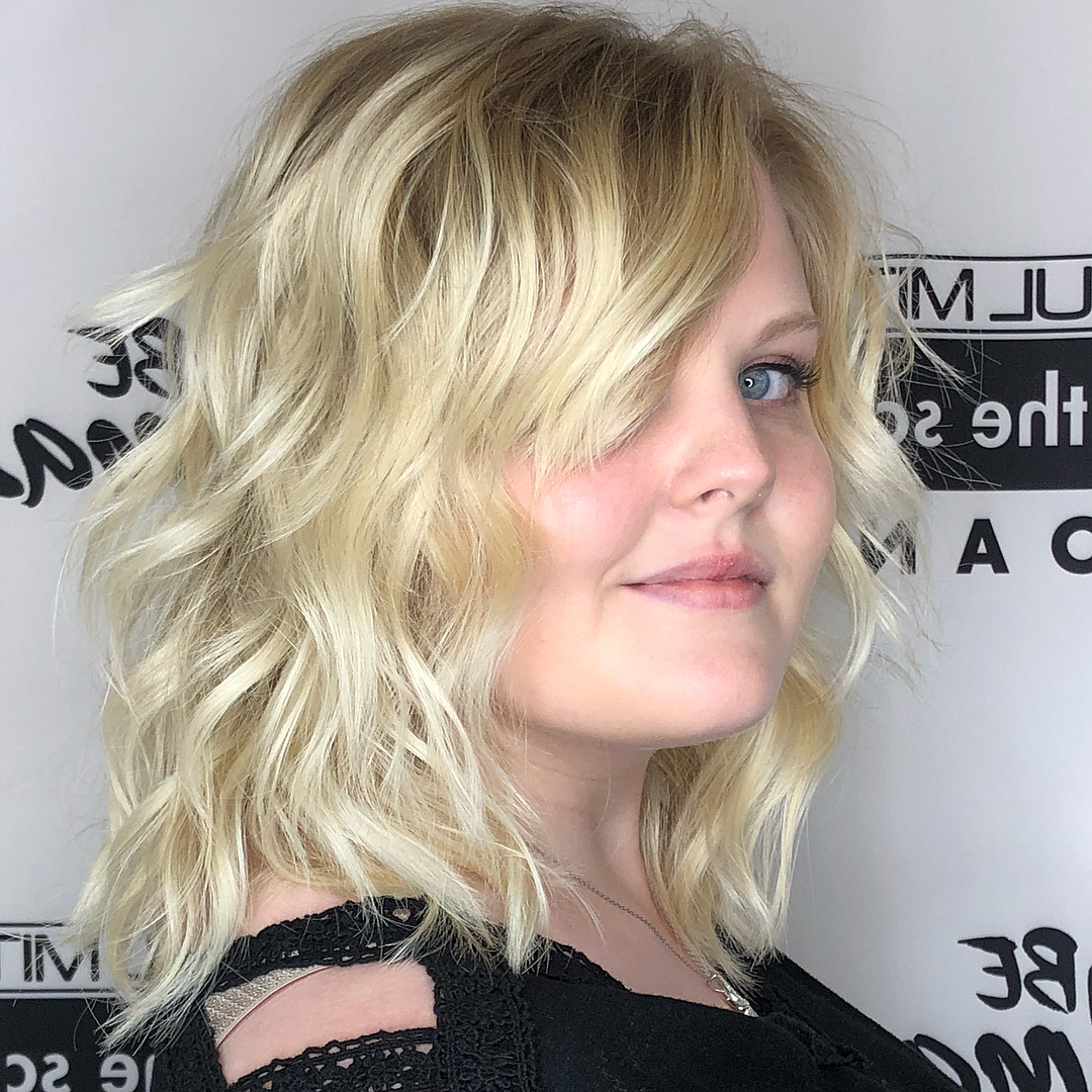 Widely Used Wispy Layered Blonde Haircuts With Bangs For 40 Classy Hairstyles For Round Faces To Choose In 2019 (Gallery 16 of 20)