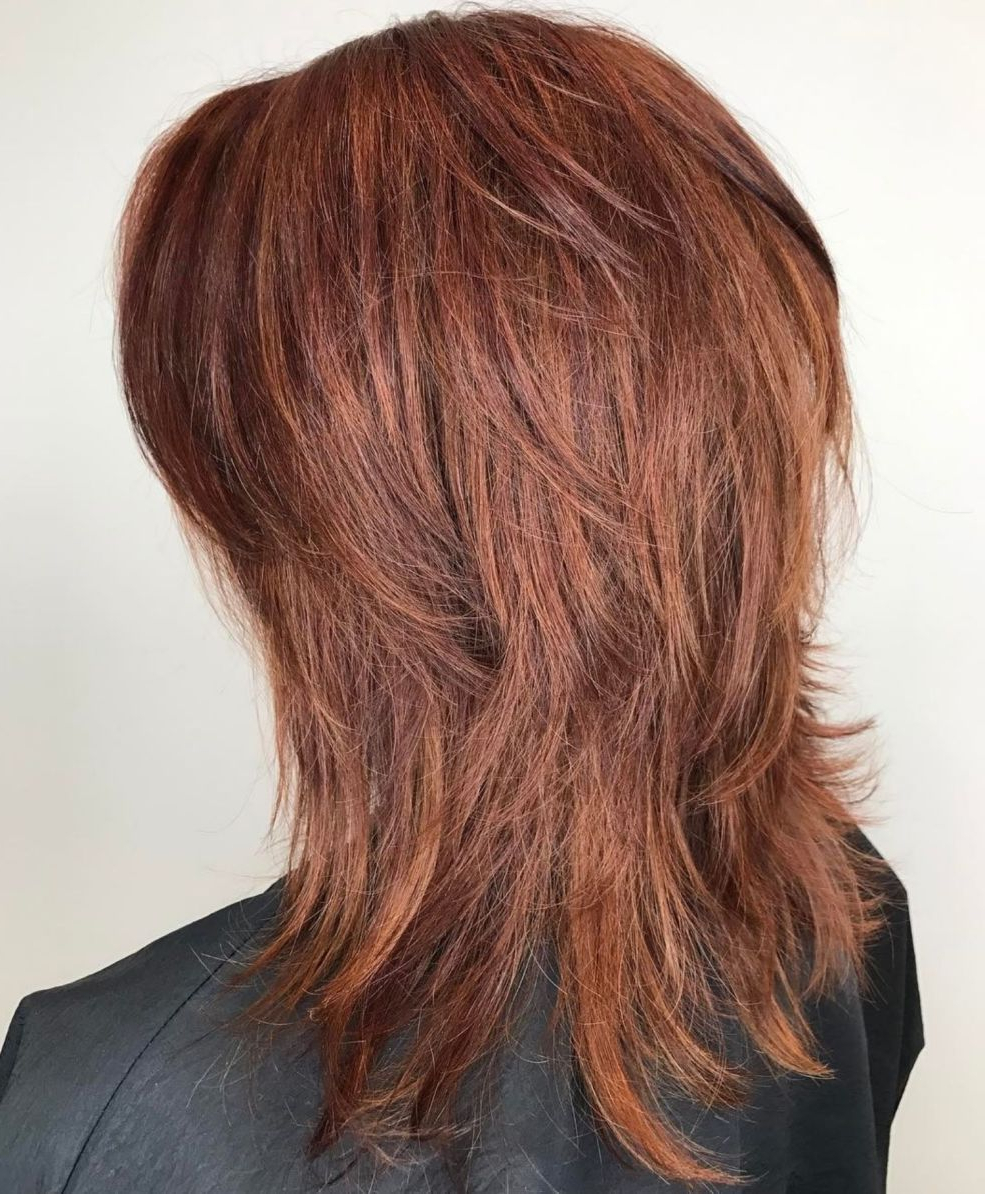 Featured Photo of Wispy Layered Hairstyles In Spicy Color