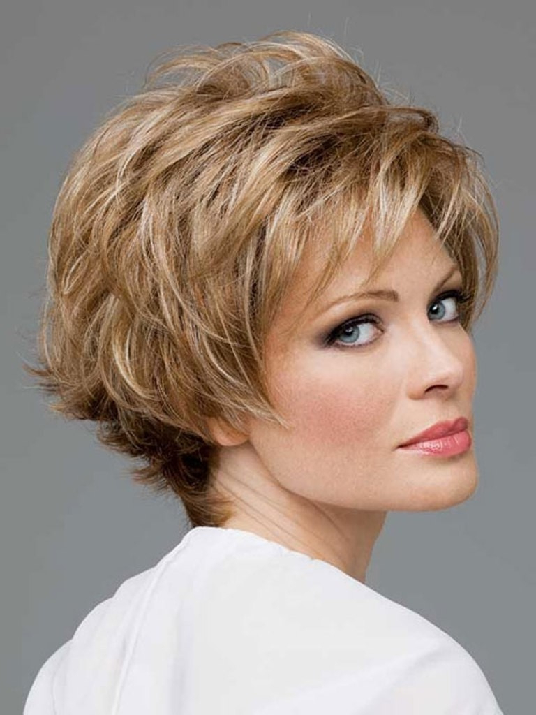 Women Hairstyle : Cute Short Hairstyles For Thick Black Hair With Regard To Layered Short Hairstyles For Round Faces (View 9 of 20)