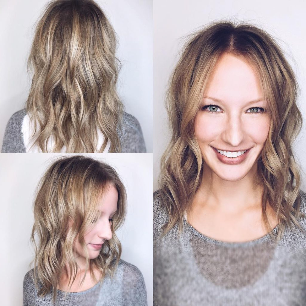 Women's Long Face Framing Lob With Allover Messy Wavy For 2019 Face Framing Wavy Hairstyles (View 7 of 20)