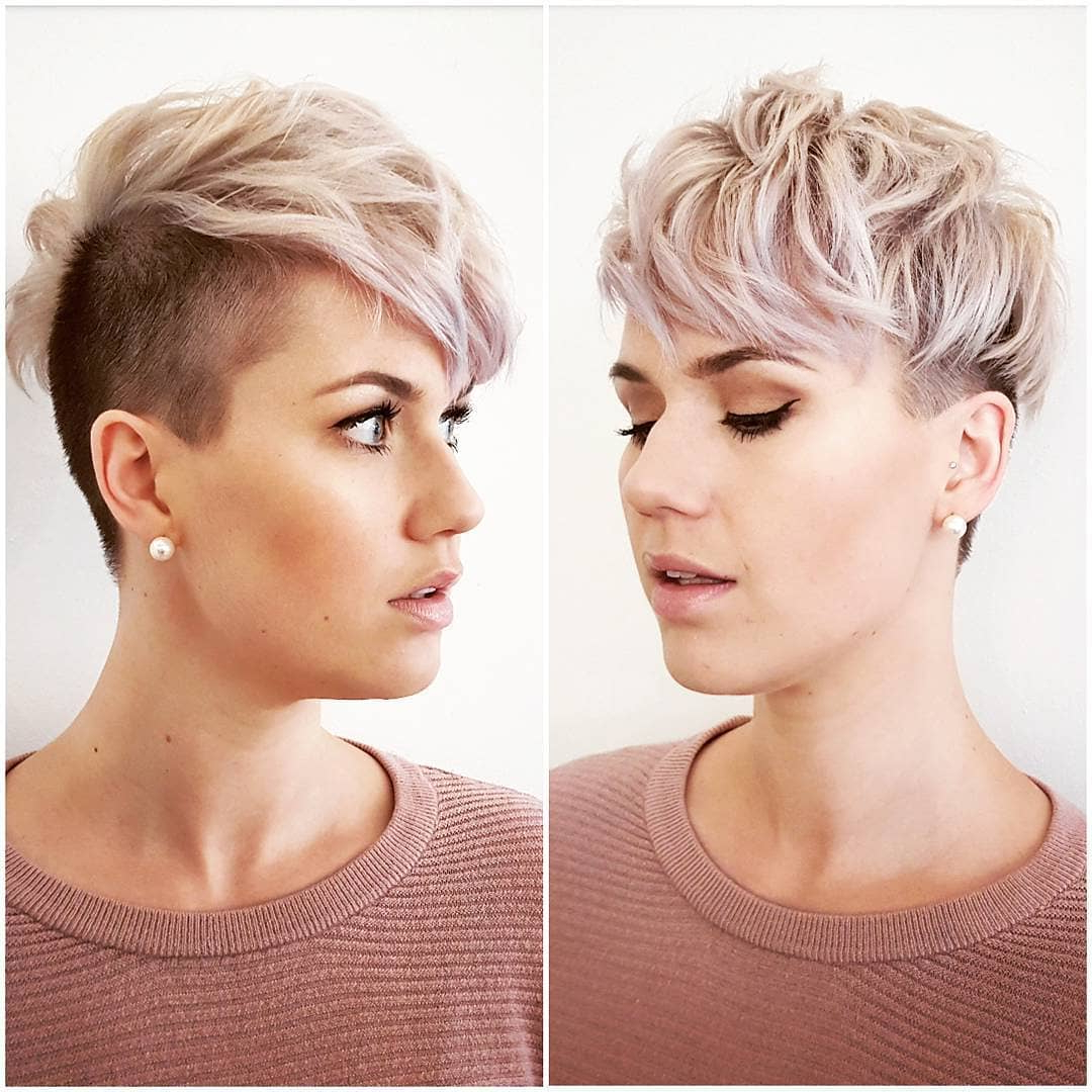 10 Beautiful Asymmetrical Short Pixie Haircuts & Hairstyles Throughout Fashionable Disconnected Pixie Haircuts With An Undercut (View 1 of 20)