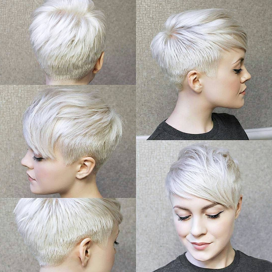 10 Best Pixie Haircuts 2020 – Short Hair Styles For Women With Most Popular Silver Pixie Haircuts With Side Swept Bangs (View 1 of 20)
