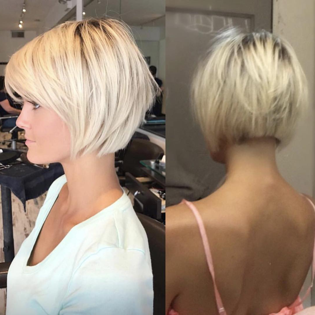 10 Best Short Straight Hairstyle Trends 2020 Pertaining To Popular One Length Short Blonde Bob Hairstyles (Gallery 15 of 20)