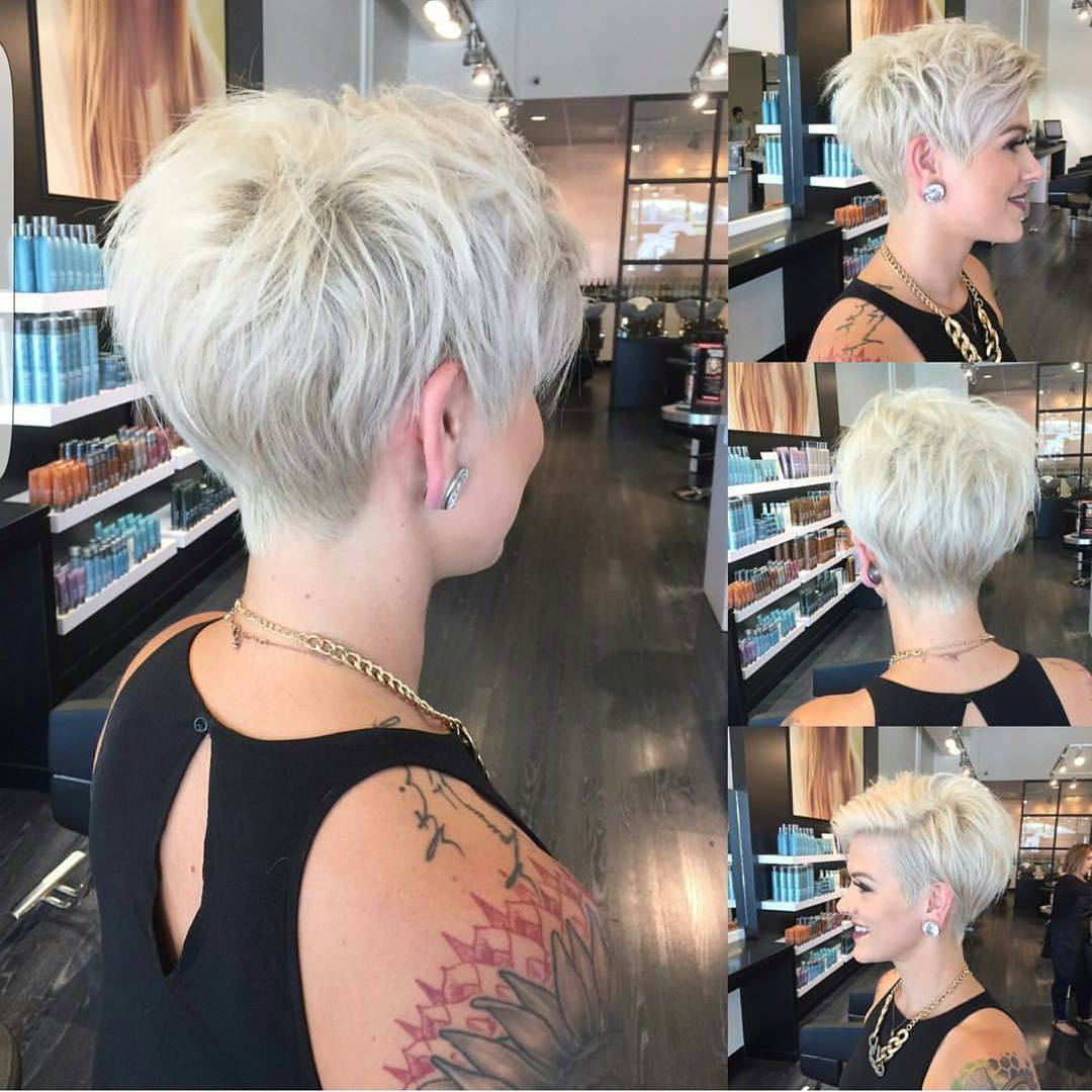 10 Short Haircuts For Fine Hair 2020: Great Looks From With Newest Disconnected Pixie Haircuts For Fine Hair (View 5 of 20)