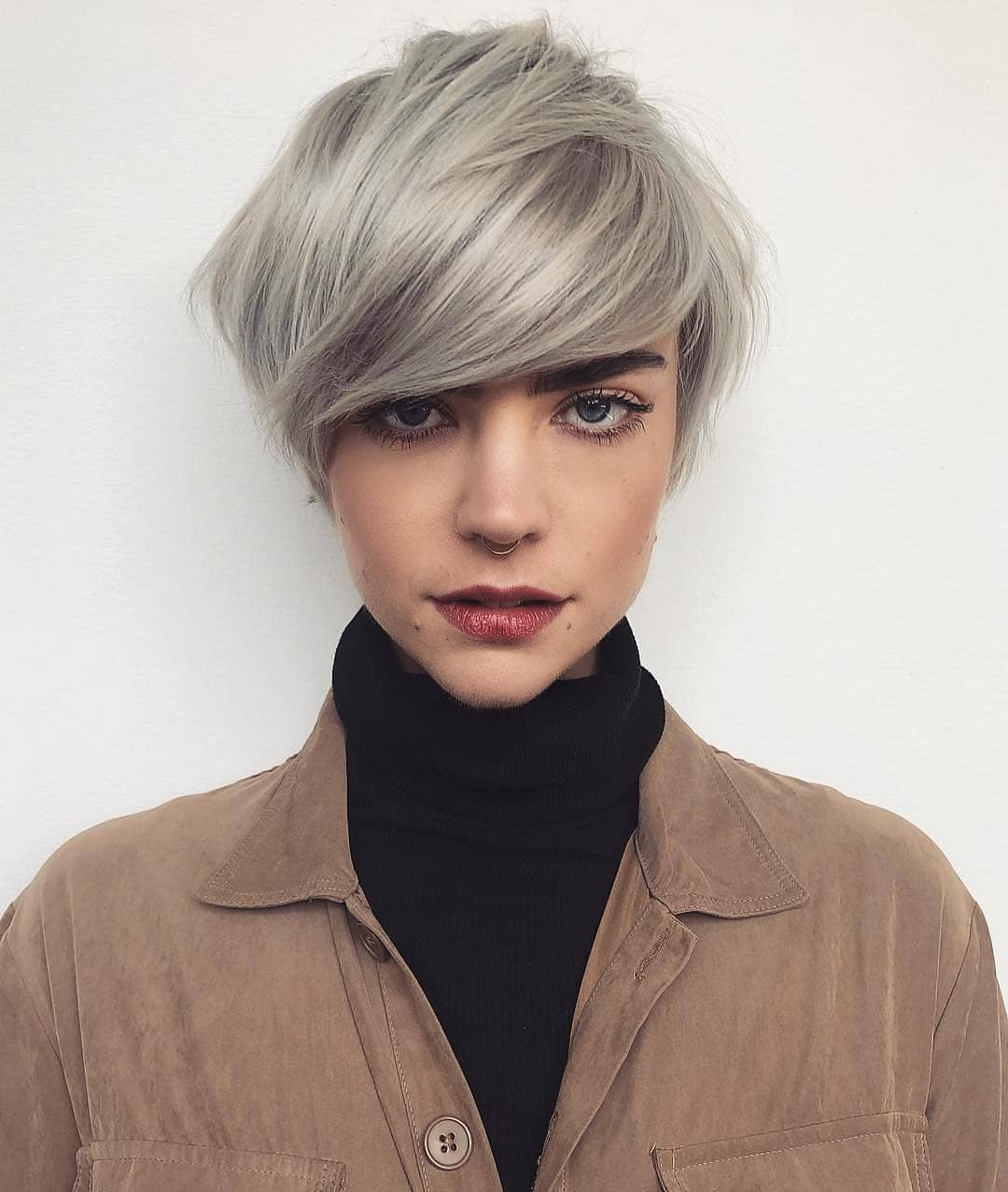 10 Trendy Short Hairstyles For Straight Hair – Pixie Haircut Regarding Trendy Silver Pixie Haircuts With Side Swept Bangs (View 2 of 20)