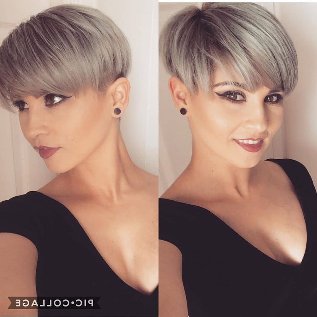 10 Trendy Short Hairstyles For Straight Hair – Pixie Haircut Throughout Popular Silver Pixie Haircuts With Side Swept Bangs (View 3 of 20)