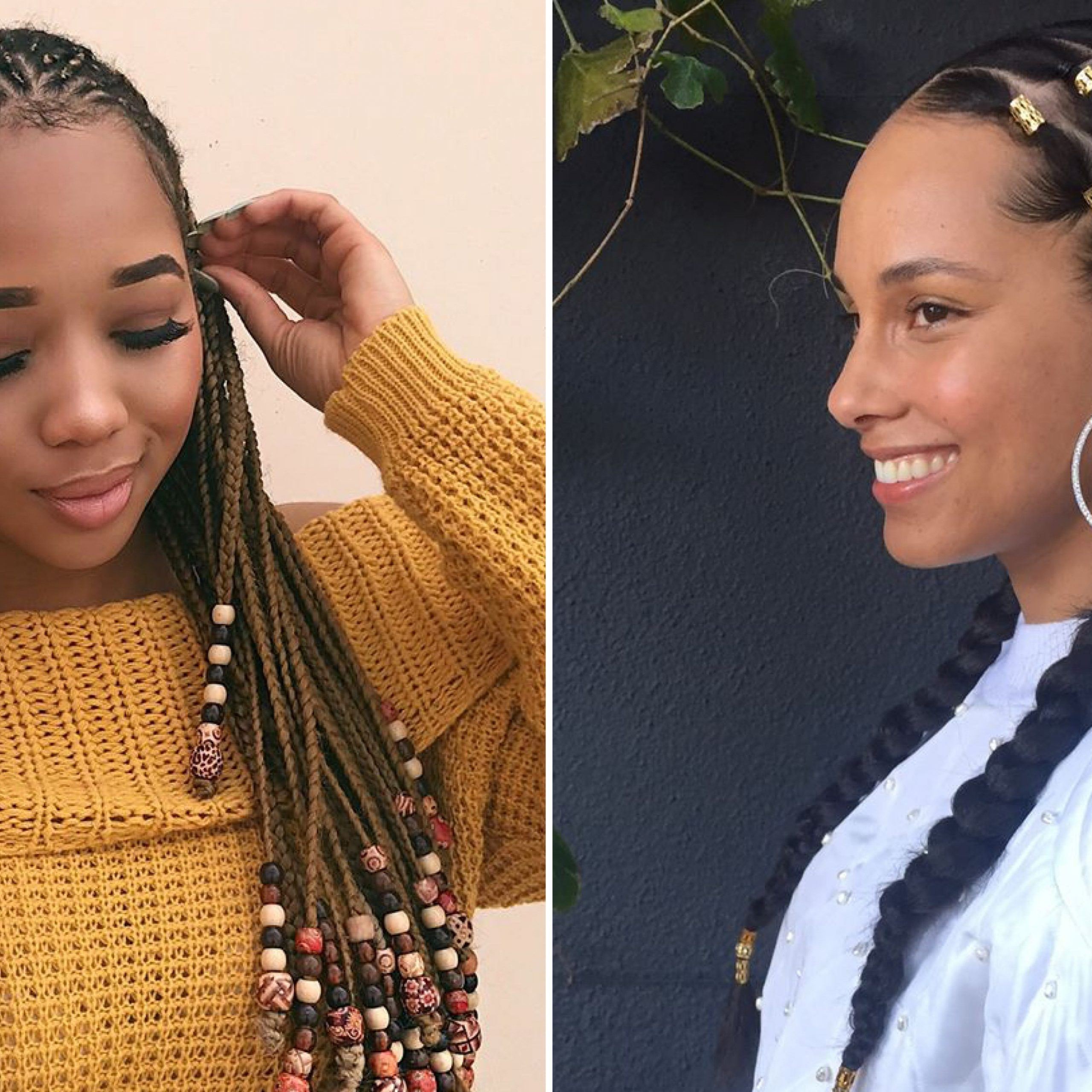 12 Gorgeous Braided Hairstyles With Beads From Instagram Pertaining To Newest Center Part Braid Hairstyles (View 1 of 20)