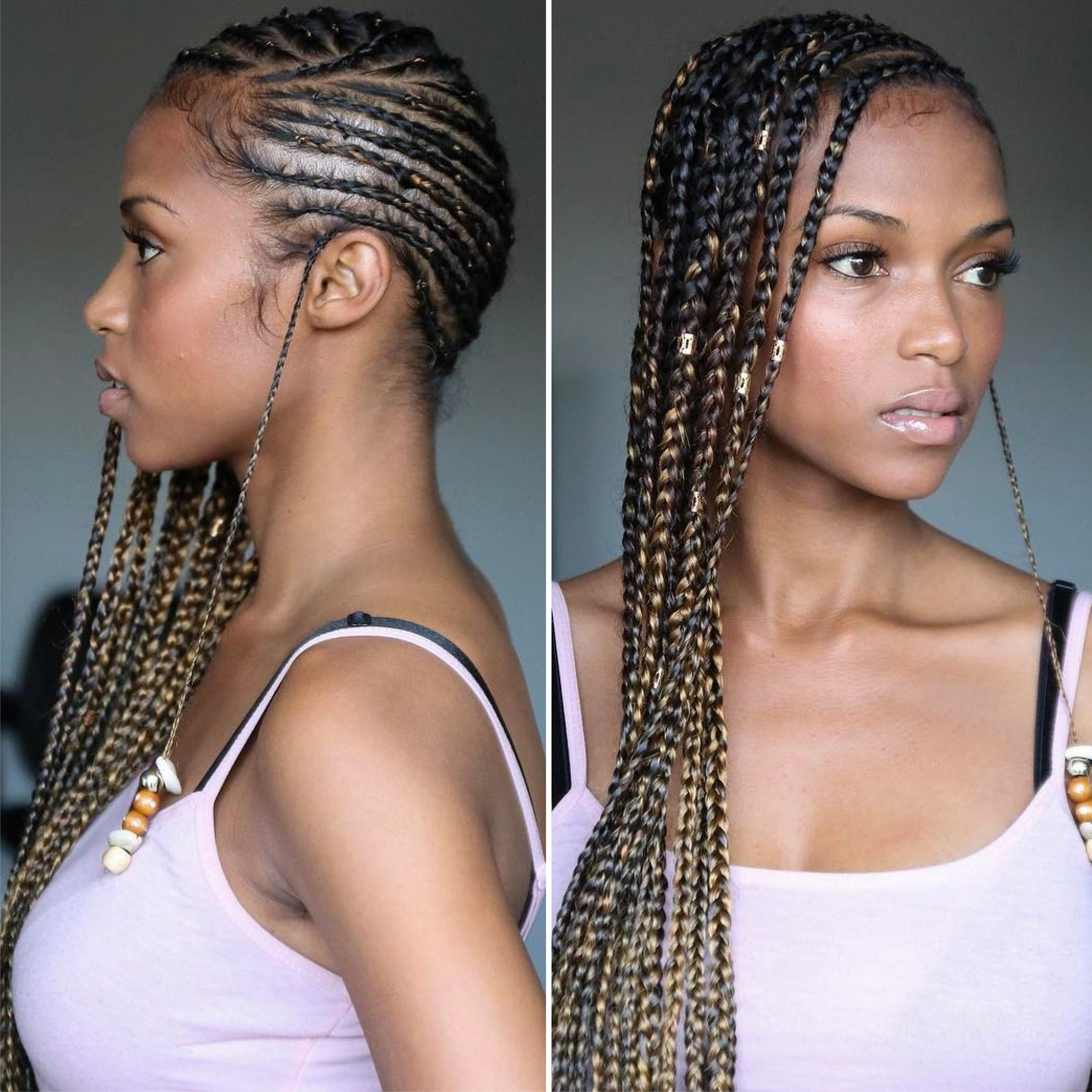 12 Gorgeous Braided Hairstyles With Beads From Instagram Regarding Favorite Metallic Side Cornrows Hairstyles (View 12 of 20)
