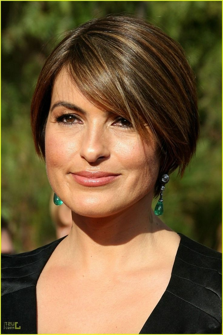 12 Short Hairstyles For Round Faces: Women Haircuts Intended For Preferred Rounded Short Bob Hairstyles (View 1 of 20)