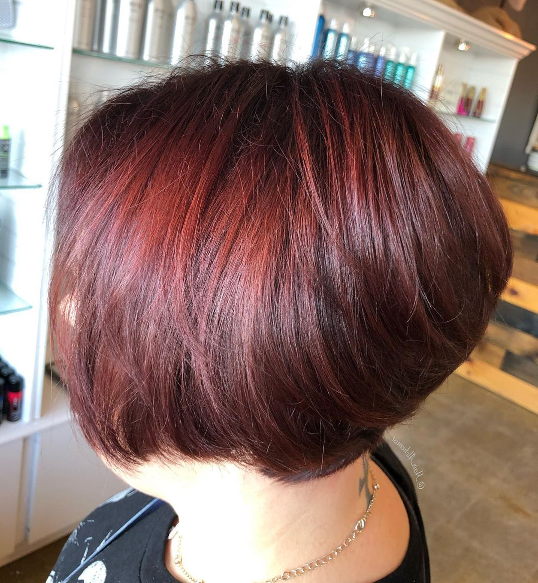 120+ Red Hair » Short Haircuts Models Within Famous Pageboy Maroon Red Pixie Haircuts (View 16 of 20)