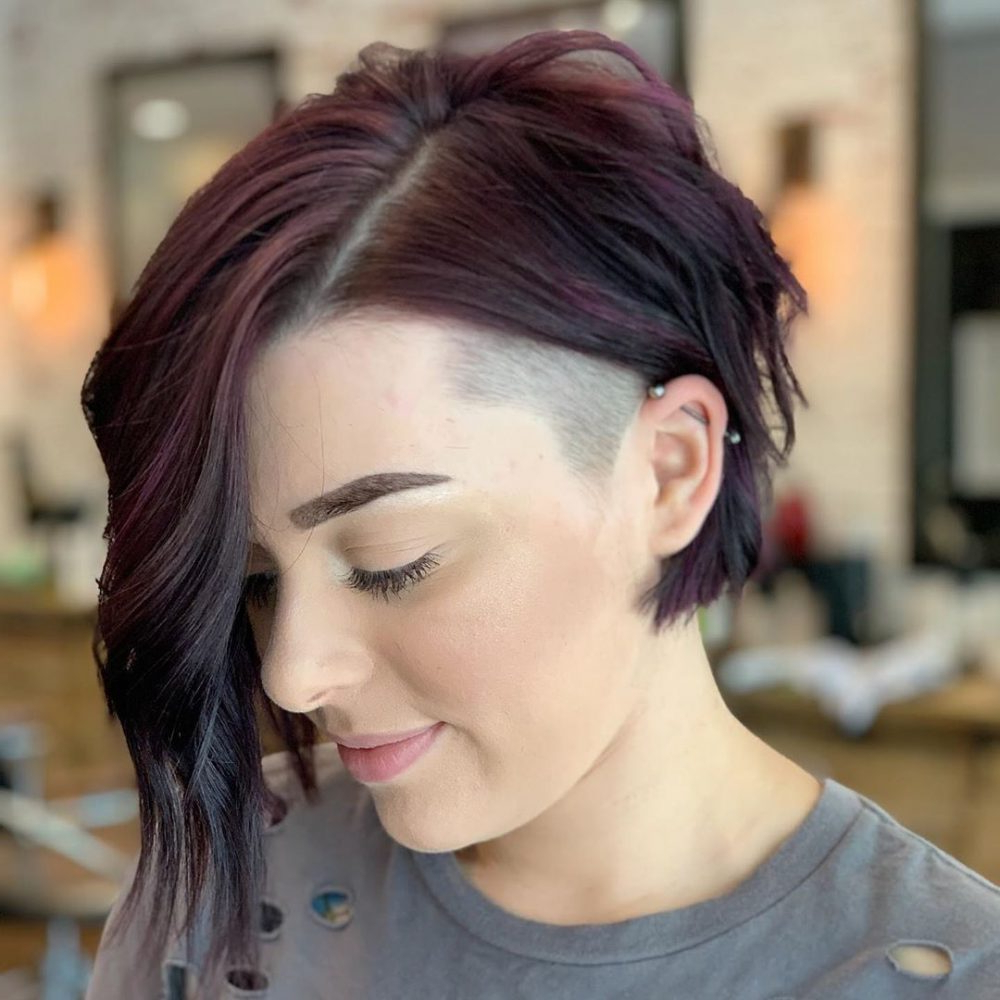 16 Flattering Undercut Bob Haircuts To Consider This Year Intended For 2018 Blonde Undercut Bob Hairstyles (Gallery 16 of 20)
