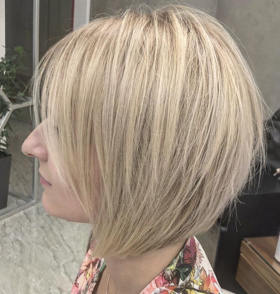 20 Bob Haircuts For Fine Hair To Try In 2020 For Well Known Graduated Angled Bob Hairstyles (View 2 of 20)