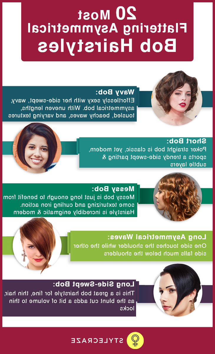 20 Most Flattering Asymmetrical Bob Hairstyles Inside Best And Newest Asymmetrical Bob Hairstyles (View 4 of 20)