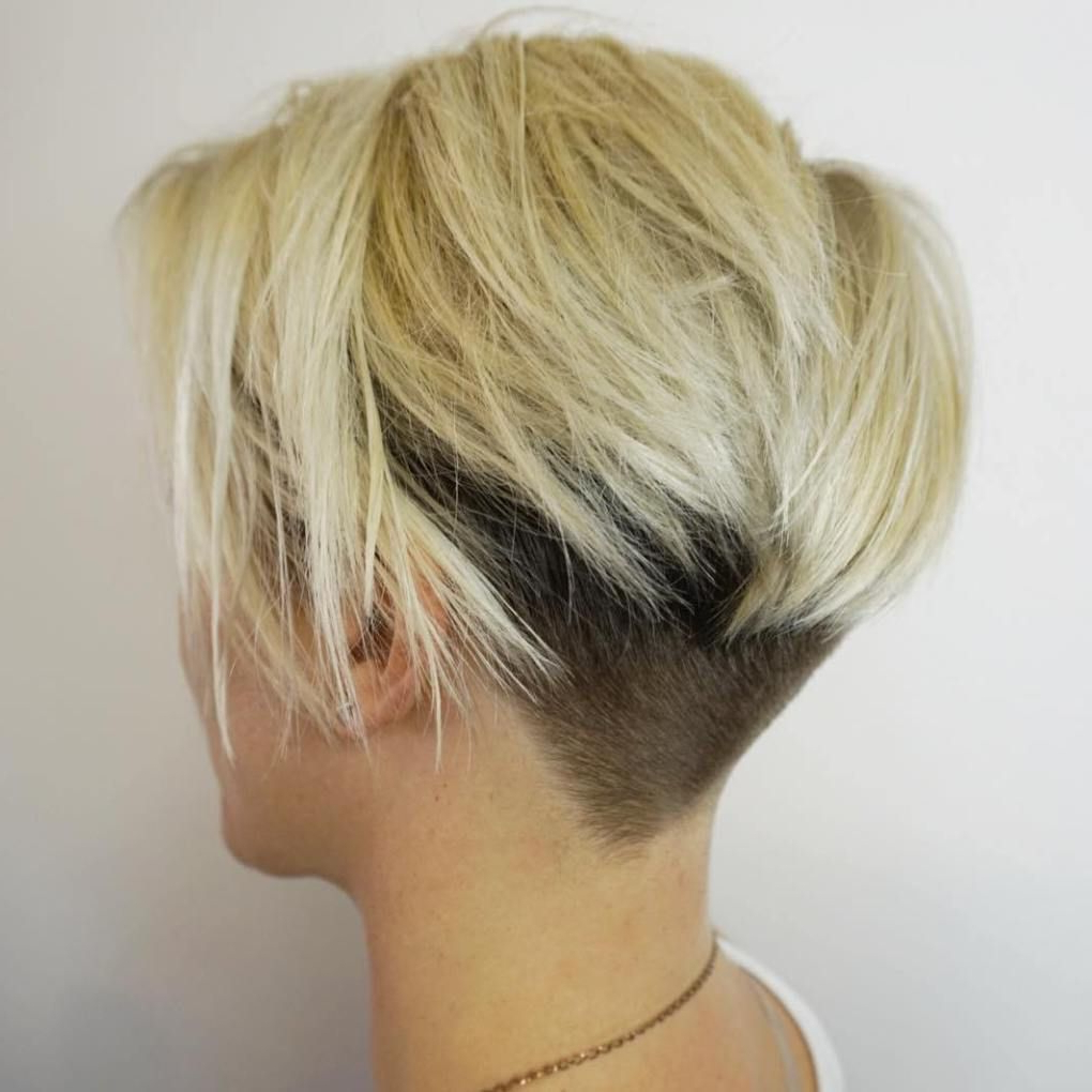 2017 Blonde Undercut Bob Hairstyles Regarding 50 Women's Undercut Hairstyles To Make A Real Statement (View 3 of 20)