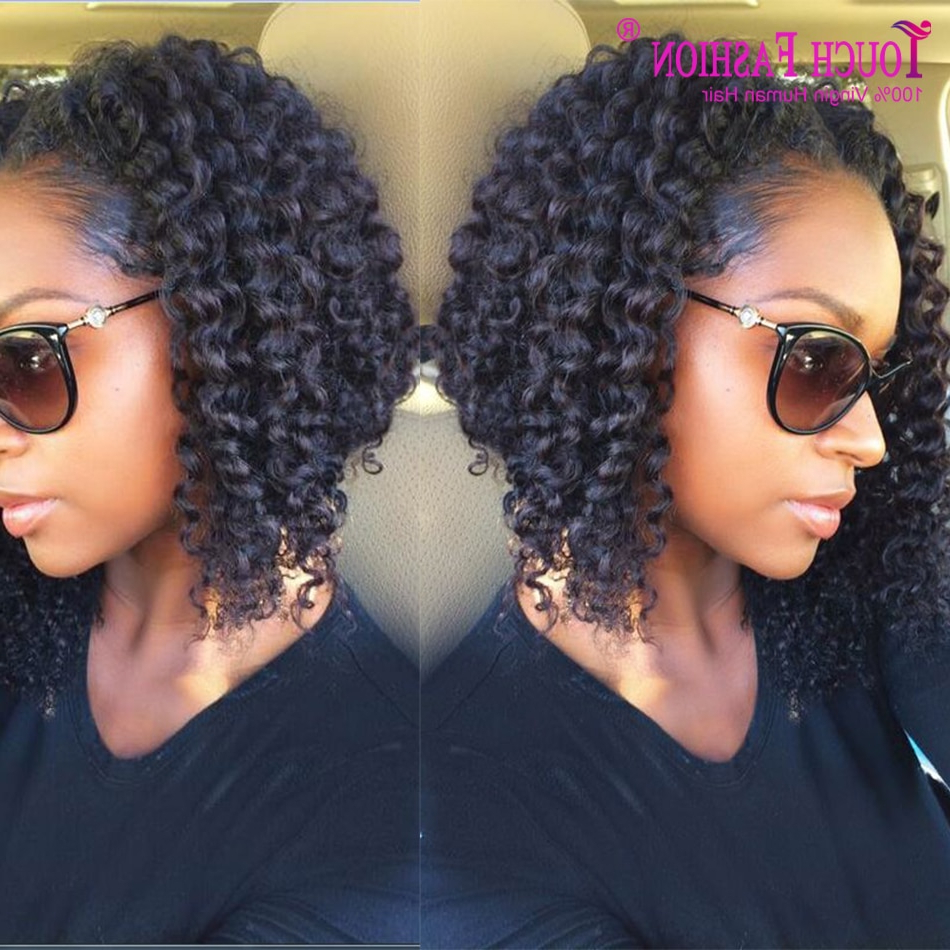 2017 New Arrival Virgin Peruvian Human Hair Sexy Curly Bob With Favorite Cute Short Curly Bob Hairstyles (View 17 of 20)