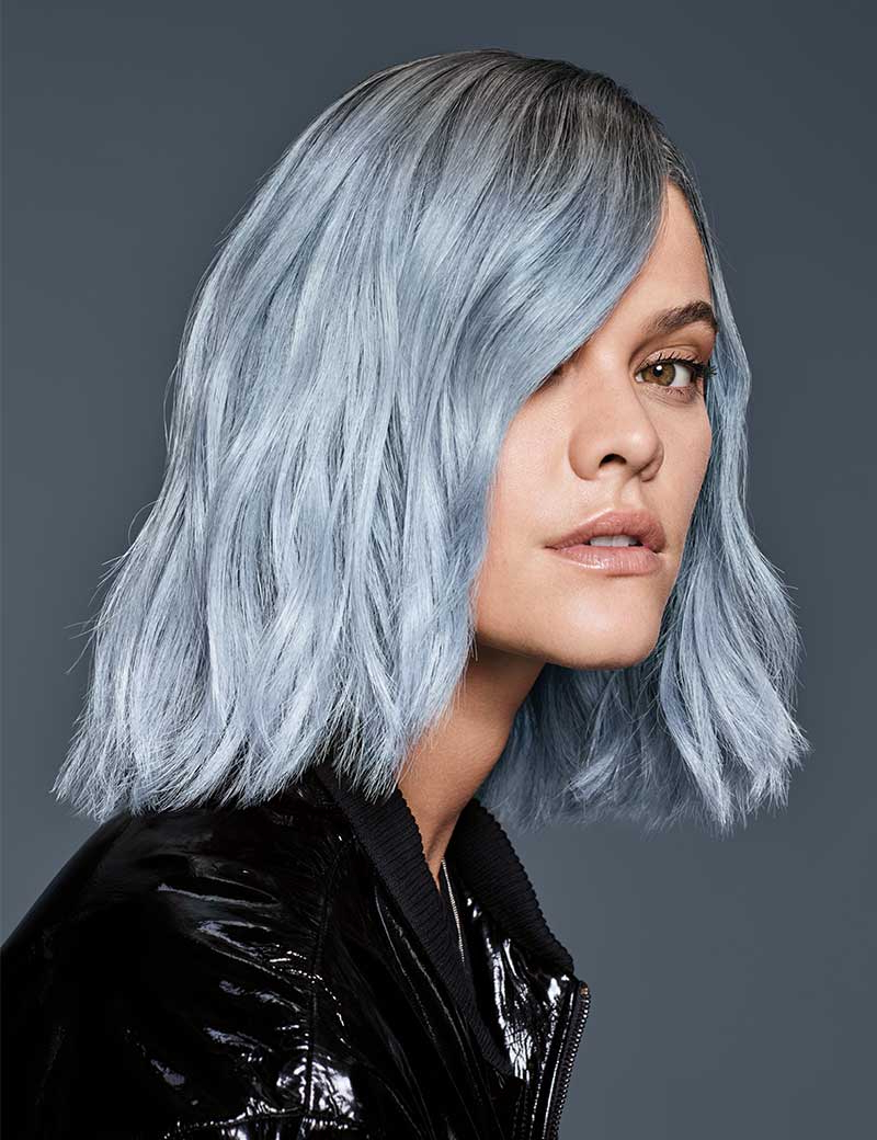 2017 Smokey Pastel Colors Pixie Haircuts Pertaining To Pastel Blue Haircolor (View 1 of 20)