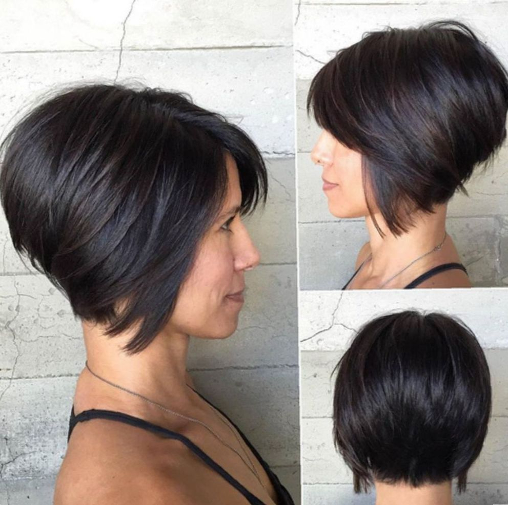 2018 Gorgeous Bob Hairstyles For Thick Hair Inside 60 Classy Short Haircuts And Hairstyles For Thick Hair In (View 4 of 20)