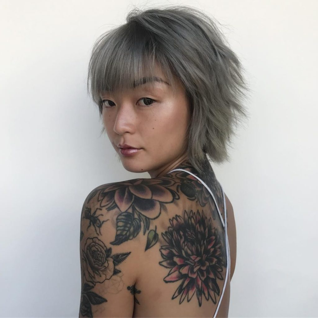 2018 Metallic Short And Choppy Pixie Haircuts Intended For Women's Smoky Grey Choppy Pixie Bob With Messy Texture And (View 18 of 20)