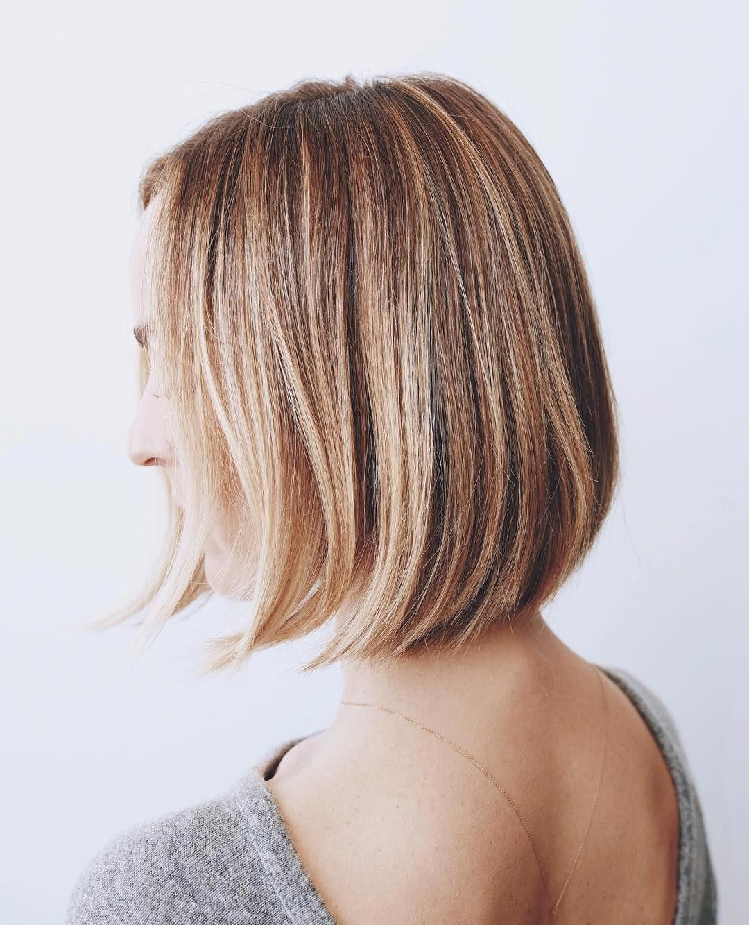 Featured Photo of Rounded Sleek Bob Hairstyles With Minimal Layers