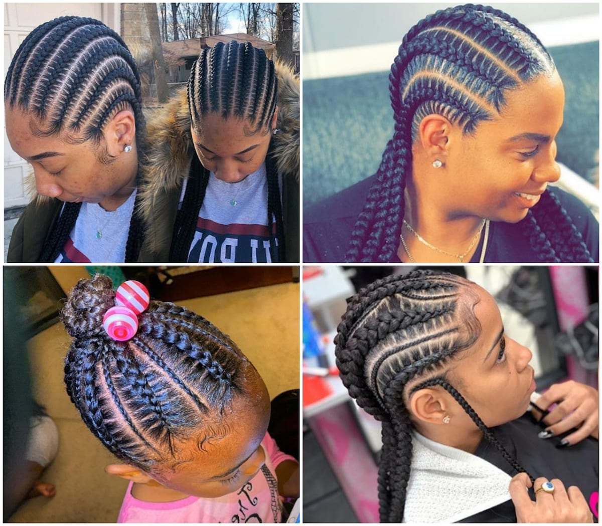 2019 Accessorized Straight Backs Braids Inside 15 Best African Women Braid Hairstyles To Look For In (View 13 of 20)