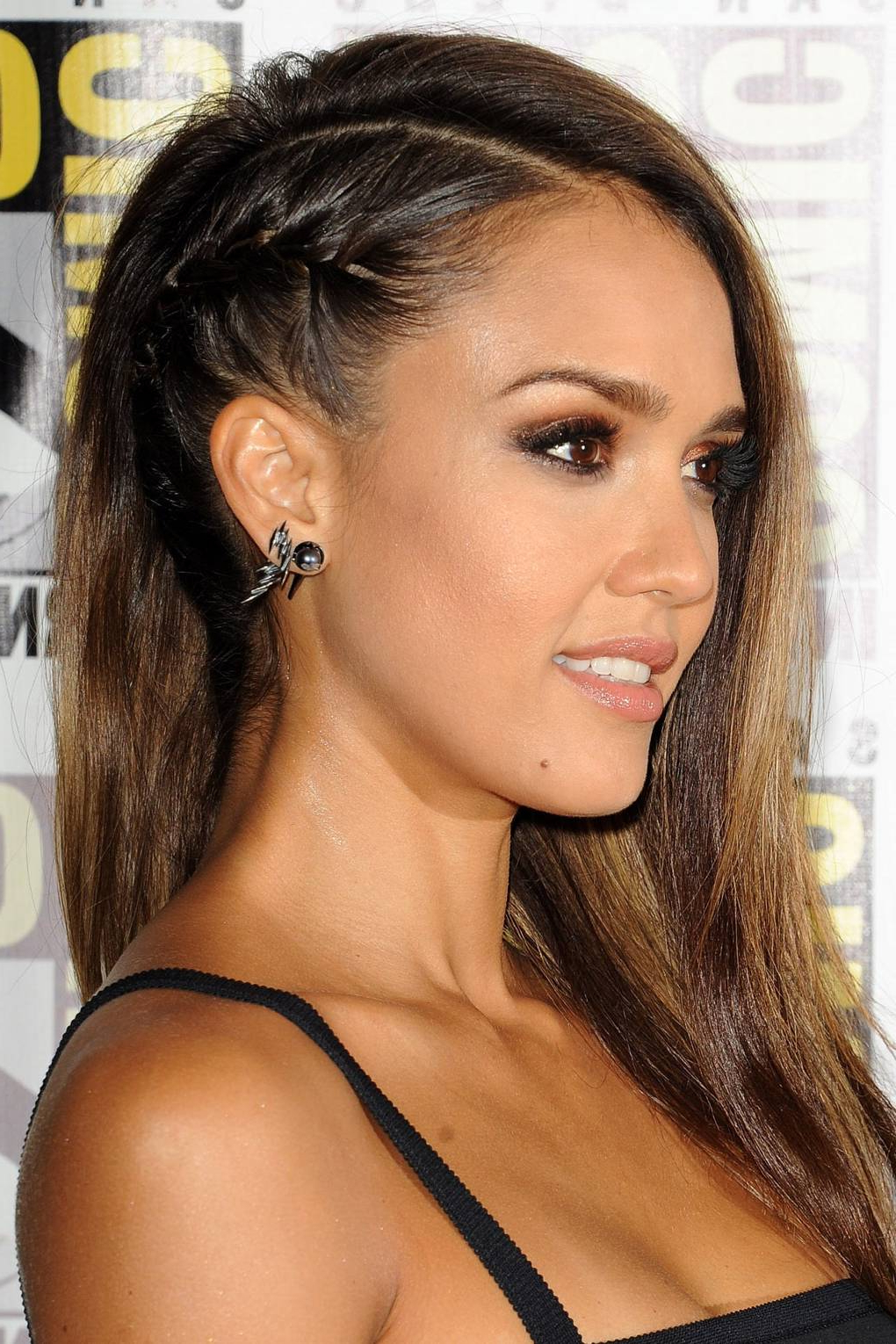 2019 Faux Undercut Braid Hairstyles Pertaining To Jessica Alba's Faux Undercut Hairstyle – Renato Campora (View 2 of 20)