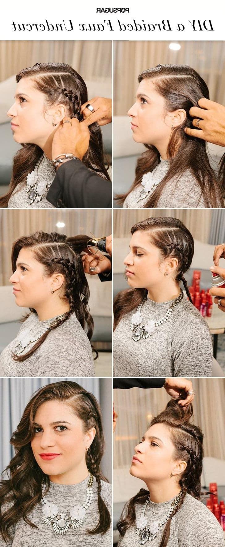 2019 Faux Undercut Braid Hairstyles Throughout Diy A Kristen Stewart Inspired Faux Braided Undercut (View 3 of 20)