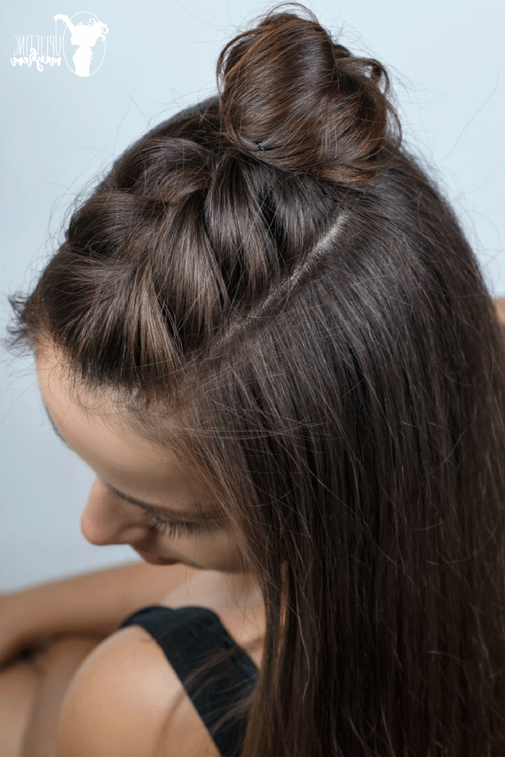 2019 Half Braided Hairstyles With Easy Half Braid Hairstyle Tutorial – Video Hairstyle (View 4 of 20)