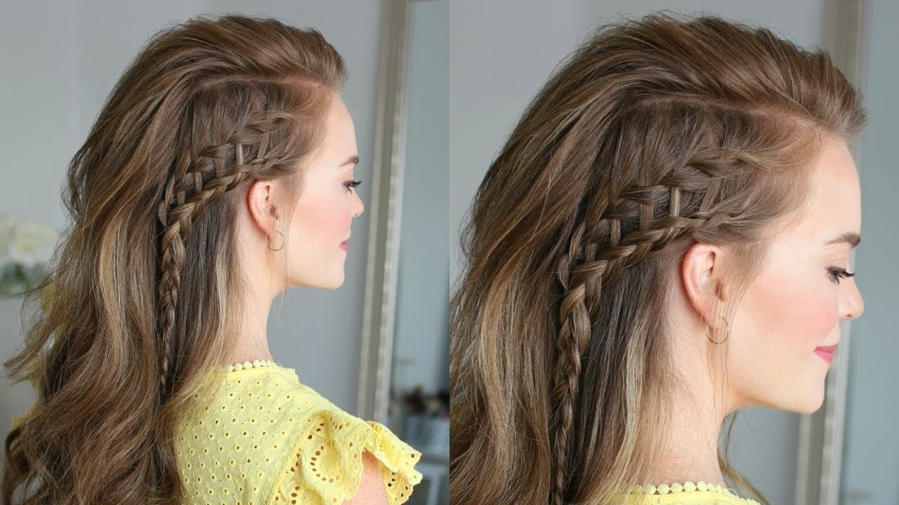 2019 Side Swept Carousel Braid Hairstyles With Side Swept Ladder Braid (View 1 of 20)