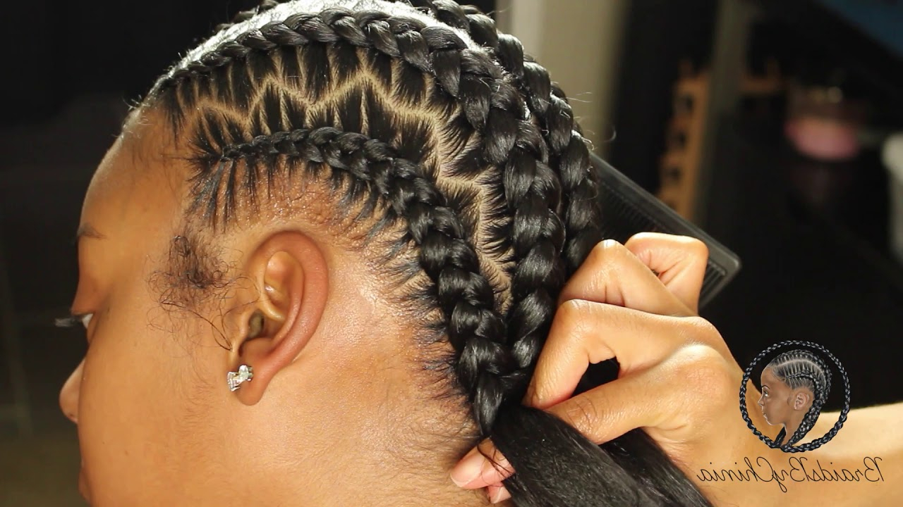 2019 Zig Zag Braids Hairstyles In Zig Zag Stitch Braids (View 1 of 20)