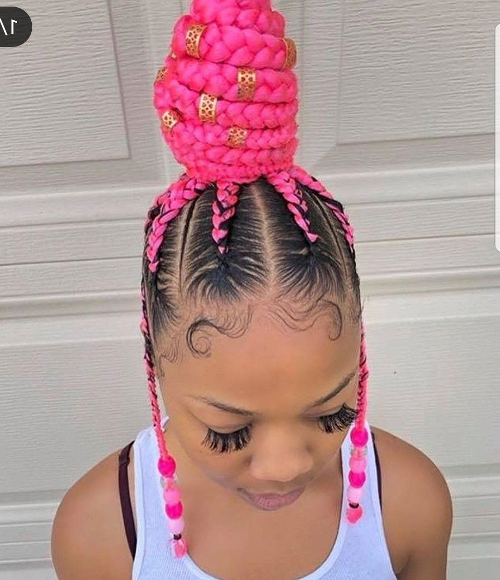 2020 Baby Pink Braids Hairstyles For Cute Pink Cornrows (View 3 of 20)