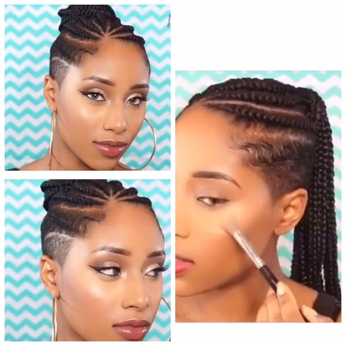 2020 Side Shaved Cornrows Braids Hairstyles In My Next Hairstyle (View 1 of 21)