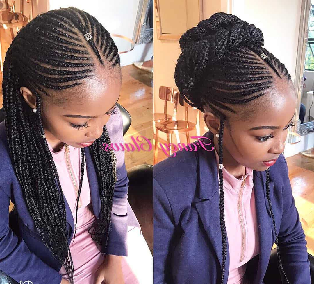 24 Fabulous Fulani Braid Looks You'll Want Now Regarding Favorite Accessorized Straight Backs Braids (View 18 of 20)