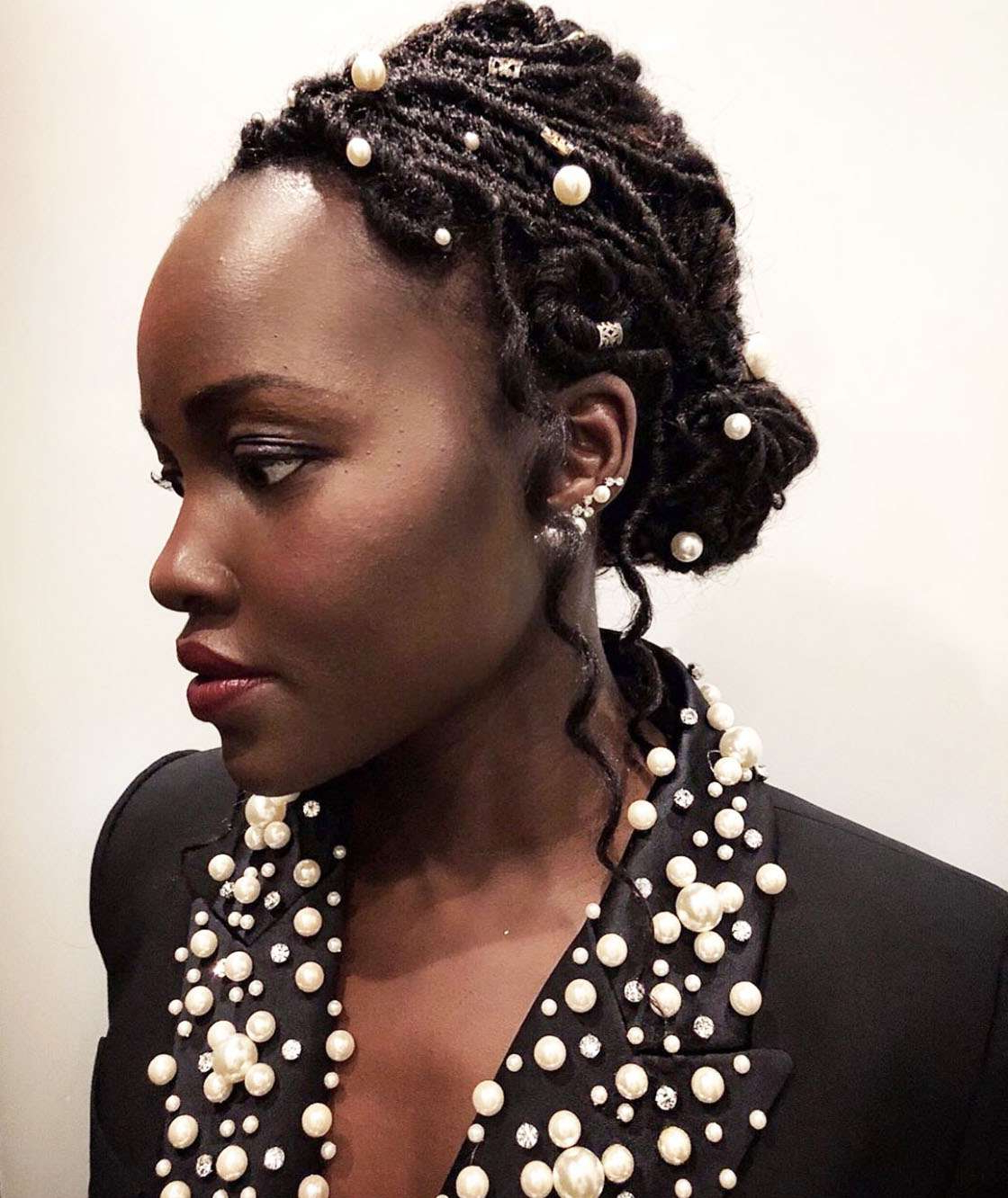 25 Stunning Holiday Party Styles For Natural Hair With Most Recently Released Metallic Side Cornrows Hairstyles (View 15 of 20)