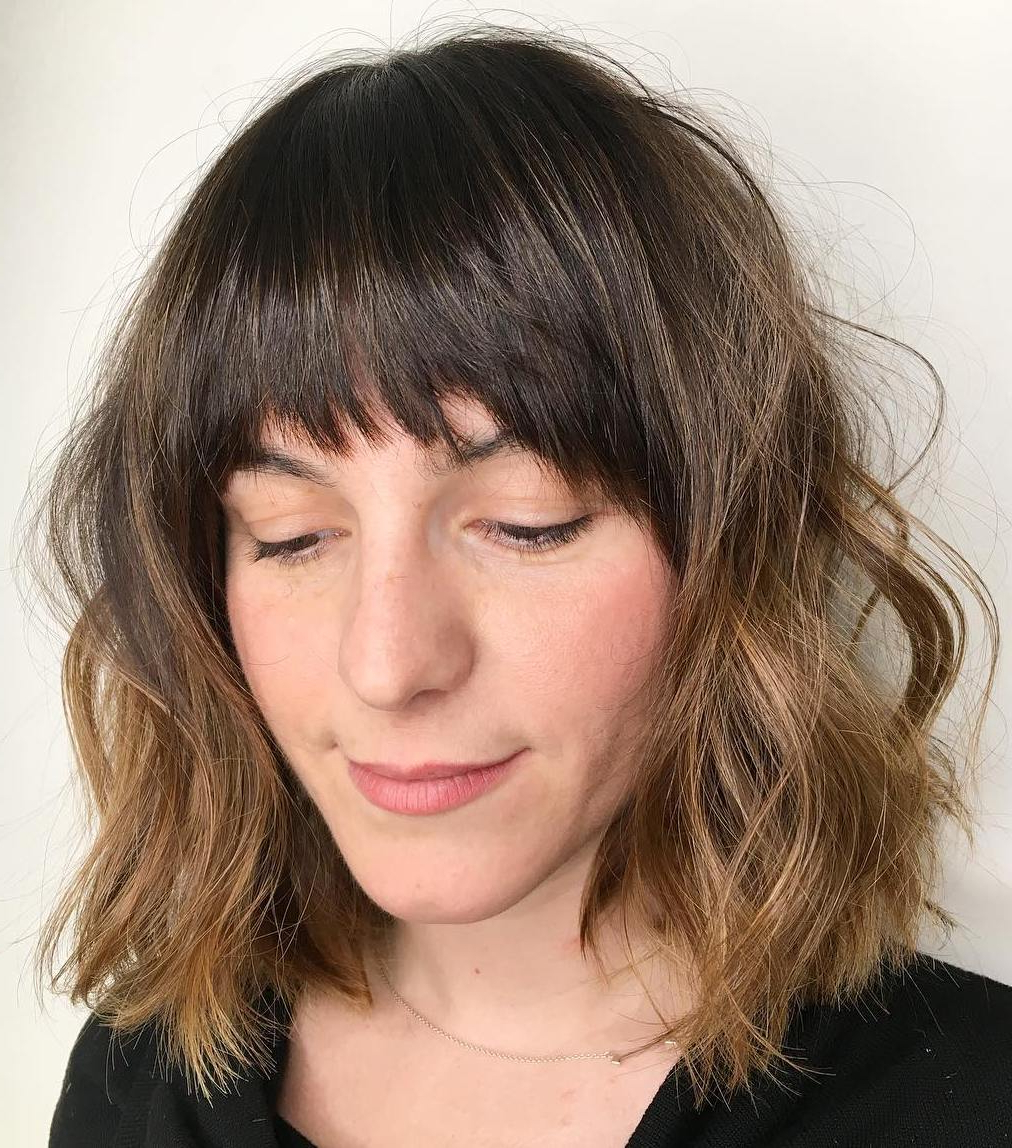 30 Flattering Hairstyles For Long Faces You'll Want To Try Within 2018 Jagged Bob Hairstyles For Round Faces (View 13 of 20)