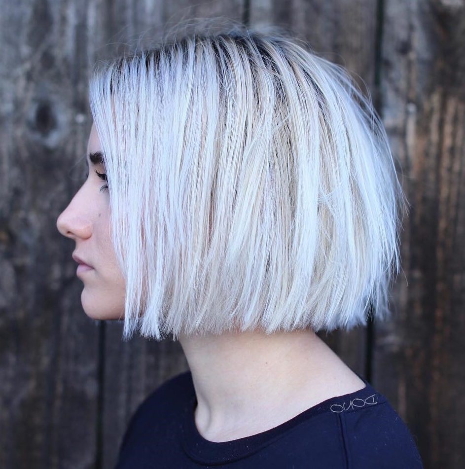 35 Cute Short Bob Haircuts Everyone Will Be Obsessed With In Pertaining To Famous One Length Short Blonde Bob Hairstyles (Gallery 3 of 20)