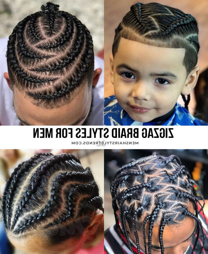 37+ Braid Hairstyles For Men (2020 Styles) In Fashionable Zig Zag Cornrows Hairstyles (Gallery 6 of 20)
