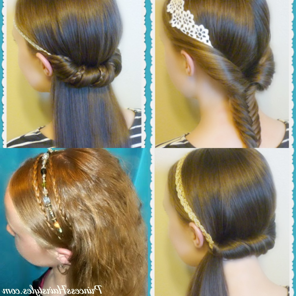 4 Easy Headband Hairstyles For School In 5 Minutes Regarding Popular Headband Braid Hairstyles With Long Waves (View 5 of 20)