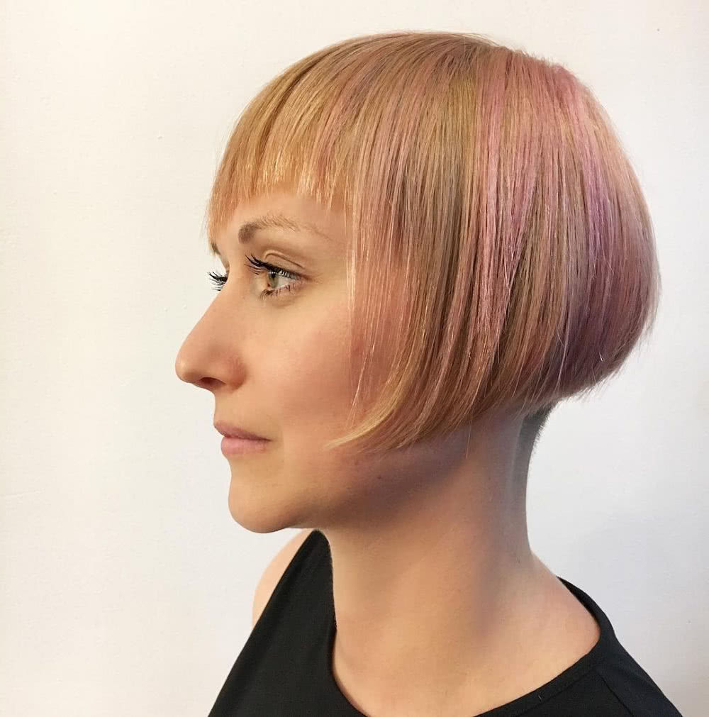 42 Sexiest Short Hairstyles For Women Over 40 In 2020 Within Most Recent Wavy Asymmetrical Pixie Haircuts With Pastel Red (View 18 of 20)
