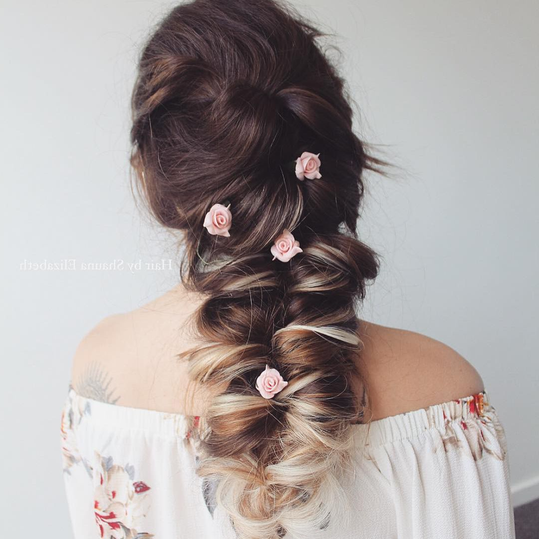 50 Braided Wedding Hairstyles We Love Inside Current Loosely Tied Braid Hairstyles With A Ribbon (View 15 of 20)