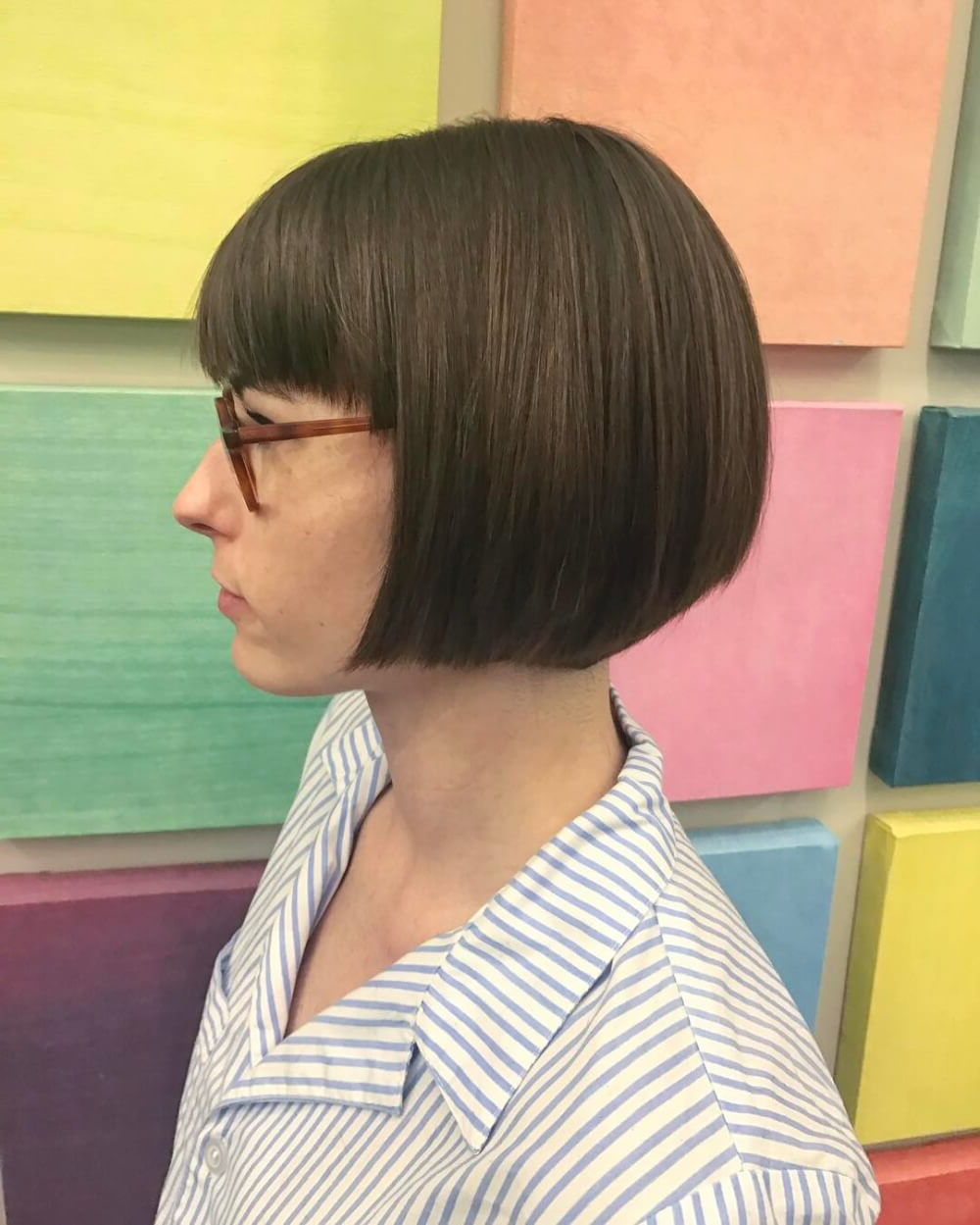 50 Chic Short Bob Haircuts & Hairstyles For Women In 2020 Regarding Favorite Ear Length French Bob Hairstyles (View 12 of 20)