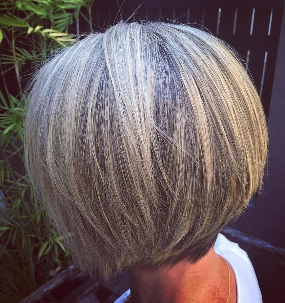 60 Best Hairstyles And Haircuts For Women Over 60 To Suit With Favorite Gorgeous Bob Hairstyles For Thick Hair (View 5 of 20)