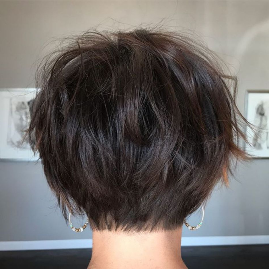 60 Classy Short Haircuts And Hairstyles For Thick Hair Pertaining To Most Up To Date Short Feathered Bob Crop Hairstyles (View 7 of 20)