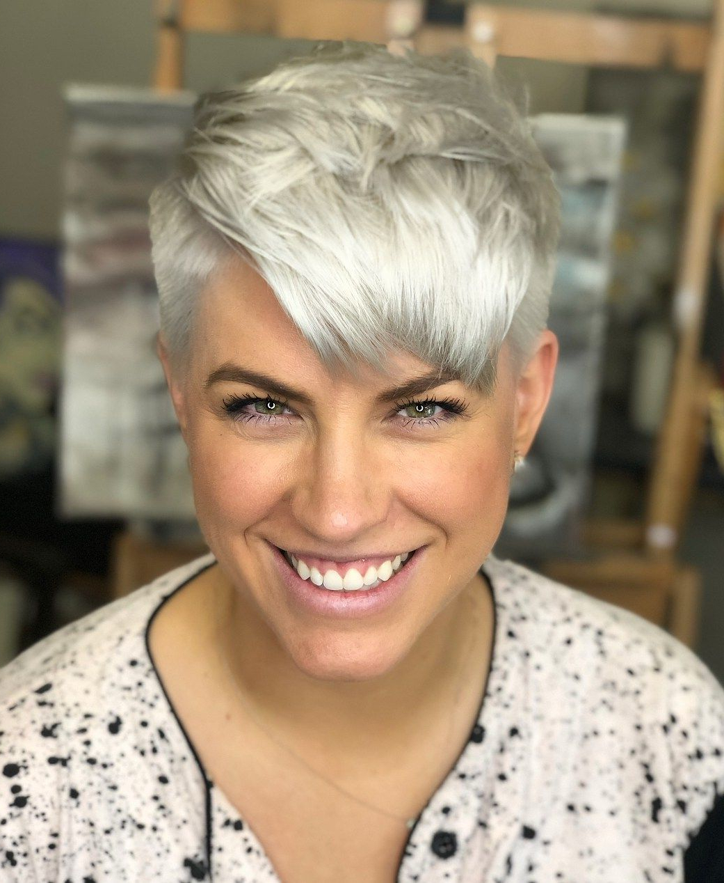 60 Cute Short Pixie Haircuts – Femininity And Practicality Inside Most Up To Date Metallic Short And Choppy Pixie Haircuts (Gallery 1 of 20)