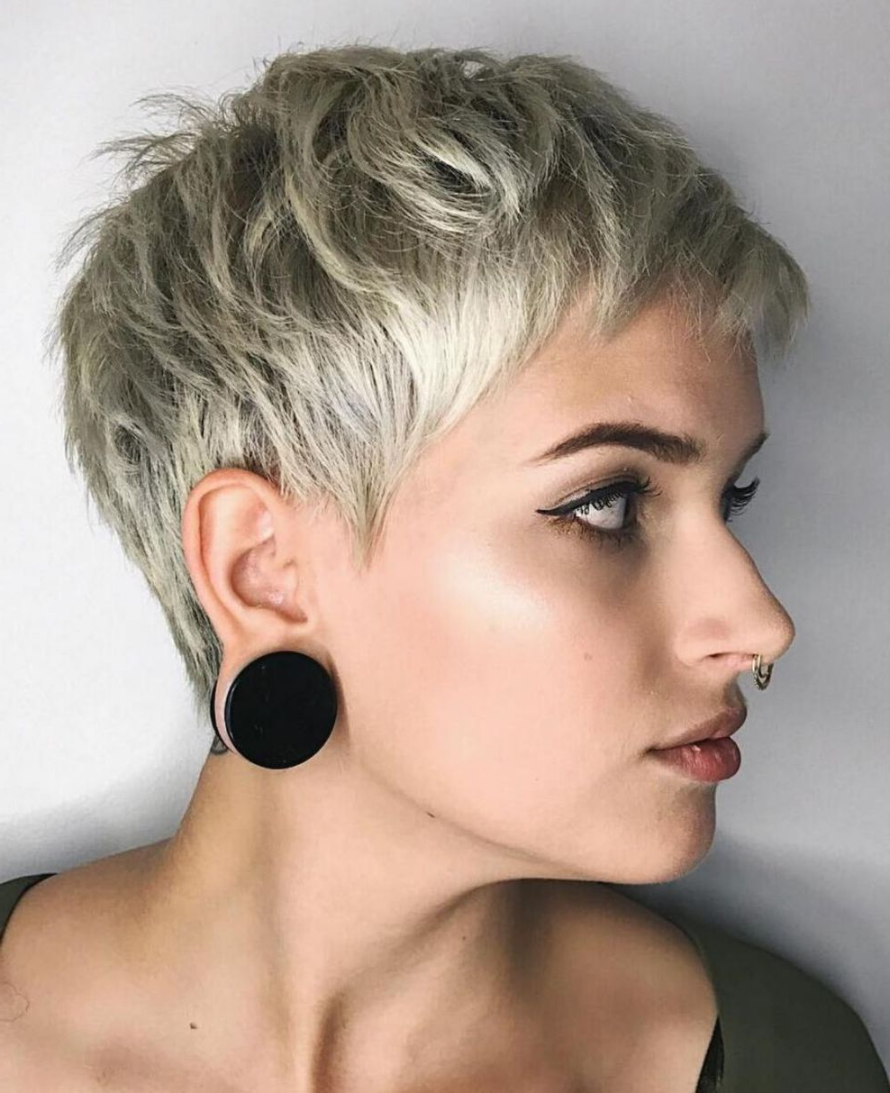 60 Cute Short Pixie Haircuts – Femininity And Practicality Intended For Widely Used Sassy Short Pixie Haircuts With Bangs (View 3 of 20)