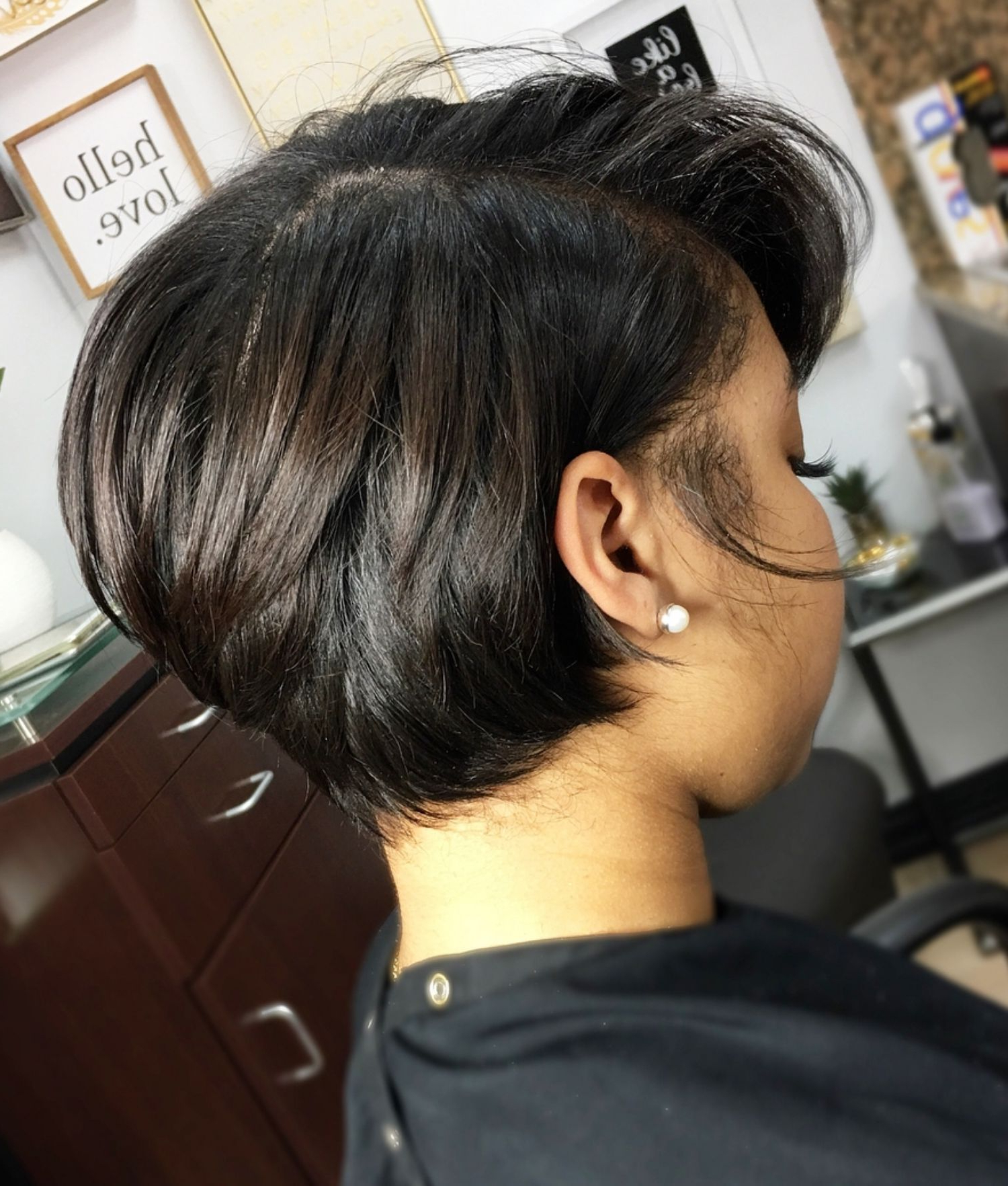 Featured Photo of Short Black Bob Hairstyles With Bangs
