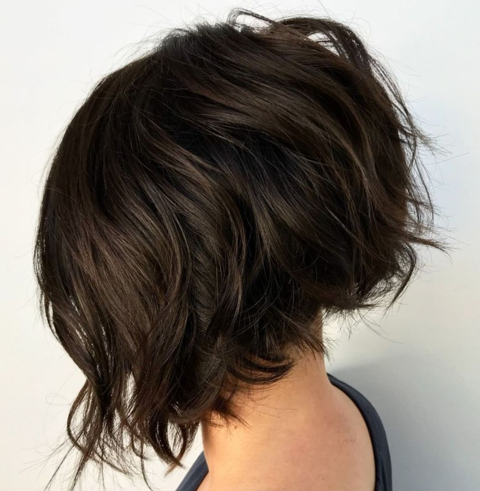 60 Most Beneficial Haircuts For Thick Hair Of Any Length In For Best And Newest Jagged Bob Hairstyles For Round Faces (View 6 of 20)