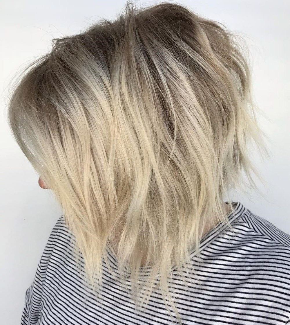 60 Short Shag Hairstyles That You Simply Can't Miss In 2019 Inside Preferred Sassy Angled Blonde Bob Hairstyles (View 2 of 20)